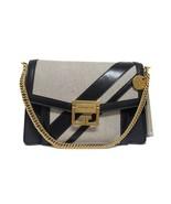 New $2650 Givenchy Gv3 Stripe Black Canvas & Leather Cross Body Bag - $1,762.04