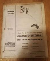Craftsman 26.2 cc Gasoline Weedwacker Operator's Manual model no. 358.798121 - $5.00