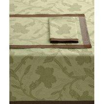 "Ralph Lauren Bedford Damask Tablecloth COTTON/LINEN Oblong 60"" X 84"" Floral New - $144.65"