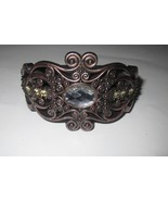 Hinged Plastic Bracelet with design and rhinstones. About 3 inches wide. - $3.00
