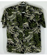 Pineapple Connection By Hey Man Mens Medium Hawaiian Shirt Black Palm Le... - $32.73