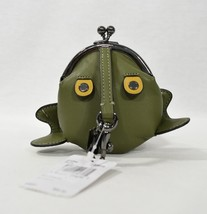 NWT! Coach 21094 Froggy Coin Case in Utility Green Glovetanned Leather - $79.00
