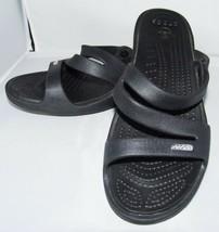 Crocs Damen Schwarz ohne Bügel Sandalen Schuhe 10 Sommer Strand Wasser R... - $28.70