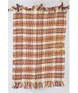"Threshold Earthy Multi Color Chunky Jute Woven Fringe Throw Rug 24"" x 36"" - $24.74"