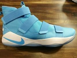 Nike Lebron Soldier XI 11 TB Light Blue Men's 943155 Basketball Shoes Si... - $89.09