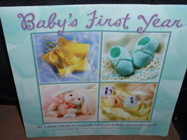 BABY'S FIRST YEAR Keepsake Calendar Includes stickers holidays & importa... - $12.95