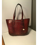 Authentic Brahmin Medium Lena Pecan Melbourne Embossed Shoulder Bag Leather NWT - $237.59