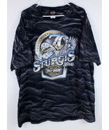 Harley Davidson Shirt Black Hills Sturgis Rally Mens XXL 2XL Rushmore Ra... - $14.99