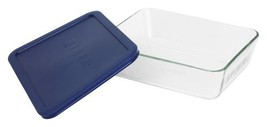 Pyrex Simply Store 6-Cup Rectangular Glass Food Storage Dish,Blue - $15.10