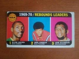 1970-71 Topps Basketball #5 Rebounds Leaders Alicnder Hayes Unseld - $9.90