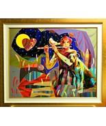 "Tadeo Zavaleta-""Hamelin""-Framed ORIGINAL OIL Painting/Canvas/Hand Signed... - $2,802.50"