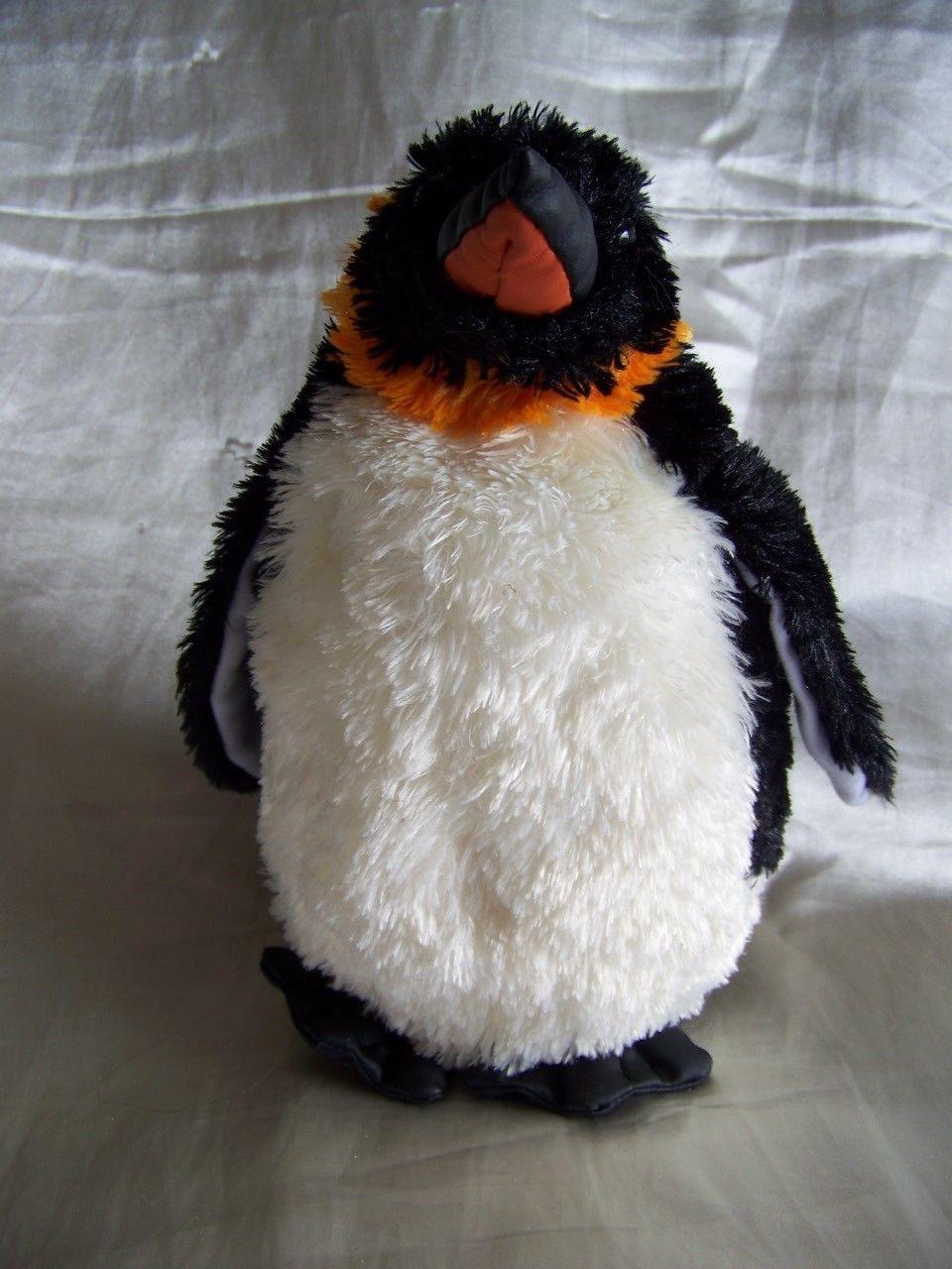 Sea World Black White Orange Penguin Plush And Similar Items