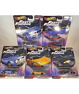 2019 Hot Wheels Premium FAST & FURIOUS Fast Imports Complete Set of 5 Se... - $54.45