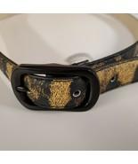 """Small 32"""" Black Designer Macy's Steve Madden Skinny Belt Leopard - $9.49"""