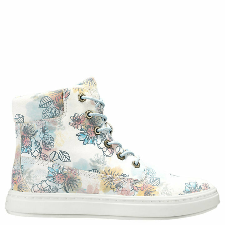 "Women's Timberland LONDYN 6"" SNEAKER BOOTS, FLORAL Sued TB0A1X46 T67 Multi Sizes image 2"