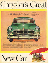 Vintage 1949 Magazine Ad Chrysler Silver Anniversary Model Now On Display - $5.93