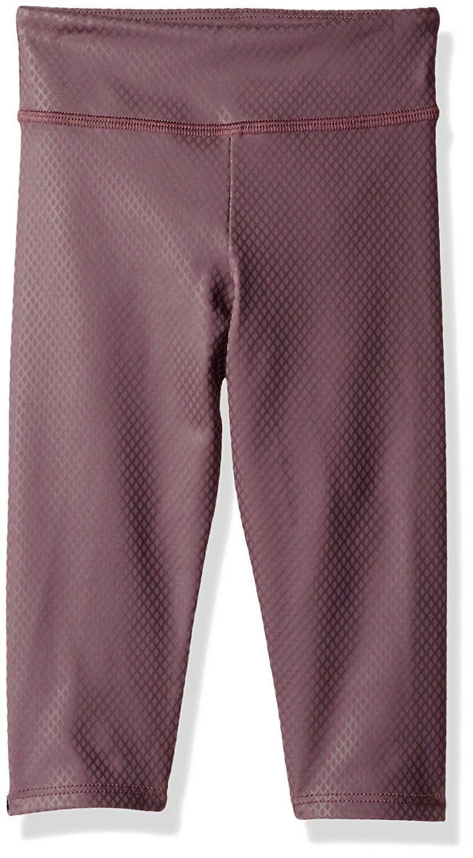 NWT $44 Kids Girls Onzie Yoga Capri Pant Legging in Purple Fishnet sz 6 - 6x - $16.63