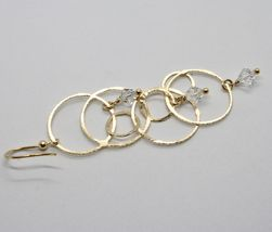 925 STERLING SILVER GOLD PL PENDANT EARRINGS WITH CIRCLES BY MARIA IELPO ITALY image 7