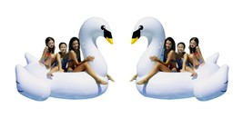 """(2) Pack - Inflatable Giant Swan 75"""" Rideable Toy Party Leisure Float 38... - $59.95"""