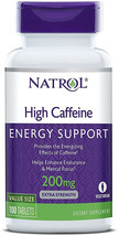 Natrol High Caffeine Tablets, 100 Count Energy Support, Helps Enhance Endurance  - $10.99