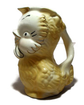 Shawnee Chick Pitcher Yellow & White Gold Trim  - $12.00