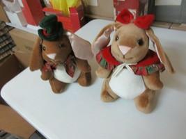 """Christmas , Toys """"R"""" Us , Boy & Girl Velveteen Rabbits , 1983 , Vintage - $27.72"""
