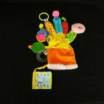 Baby Soft Toy Teething GLOVE Hand Puppet Plush Ring Mirror Workman Publi... - $19.79