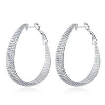 Fashion 18k Silver Gold Filled Hollow Basket Women Lady Banquet Hoop Earrings - $9.79