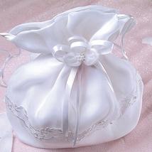 White Satin Bridal Bag - $32.00