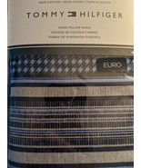Tommy Hilfiger Lockeport Stripe Blue Euro Sham - $26.00