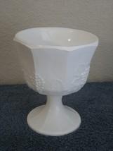 Vintage Milk Glass Colony Harvest Grape Goblet Vase Planter Flowers Cont... - $13.98