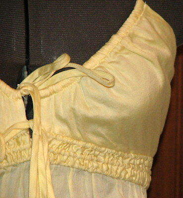 FRENCH CONNECTION pale soft yellow cotton spaghetti blouse 4 (T0503D8G) image 3