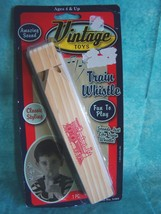 Vintage Toys Train Whistle Classic Wooden Authentic Sound New In Package - $13.98