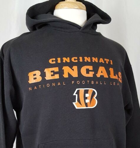 Primary image for Cincinnati Bengals Mens M Pullover Hoodie Sweatshirt NFL Team Apparel Black