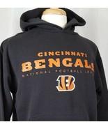 Cincinnati Bengals Mens M Pullover Hoodie Sweatshirt NFL Team Apparel Black - $16.88