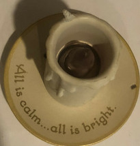 Hallmark Christmas Ornament All Is Calm All Is Bright Candle - $7.23