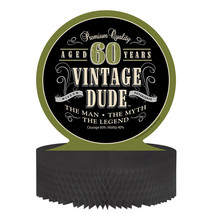 "Vintage Dude 12"" x 12"" Honeycomb Centerpiece 60th, Case of 6 - £28.72 GBP"