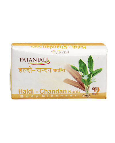 PATANJALI HALDI CHANDAN KANTI BODY CLEANSER SOAP BAR- 75gm
