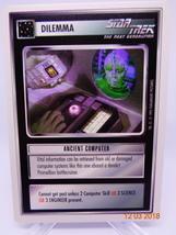 ANCIENT COMPUTER Dilemma card Star Trek tng ST:TNG CCG sttng NM Decipher... - $0.99