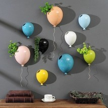 Colorful Home Wall Decor Balloons Nordic Flower Vase Plant Pot Ceramic G... - $57.22+