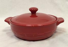 Longaberger Pottery Tomato Mini Casserole Dish with Lid (Individual Size) - $12.34