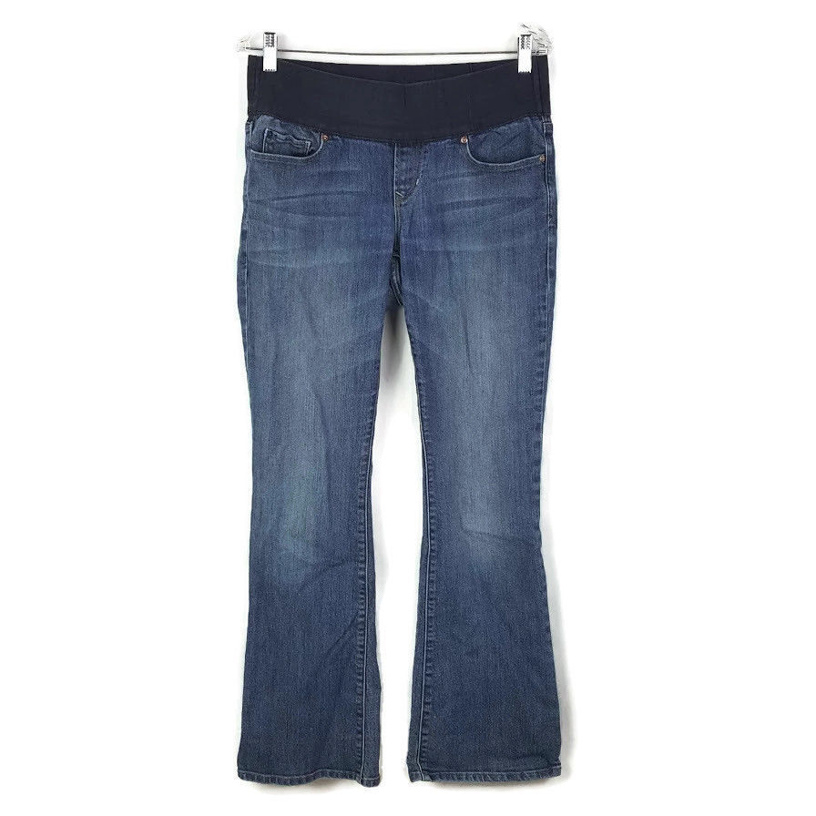 22b3e09e4cbd5 Gap Maternity 1969 Jeans Sexy BootCut Size 8 Medium Wash - $11.88