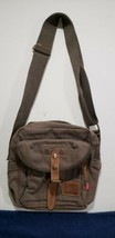 AUGUR STRAUSS & CO. - BROWN DOUBLE SNAP MESSENGER BAG.  - $37.72 CAD