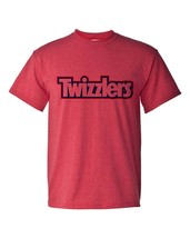 Twizzlers Logo T-shirt retro 80s candy logo Heather Red distressed 50/50 tee image 2