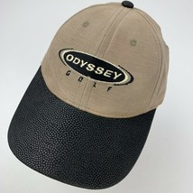 Odyssey Golf Tan Black Adjustable Adult Ball Cap Hat - $12.86