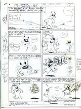 Spooky-Bee 2 Page Story Original Comic Production Art Al Kurzrok - $107.19