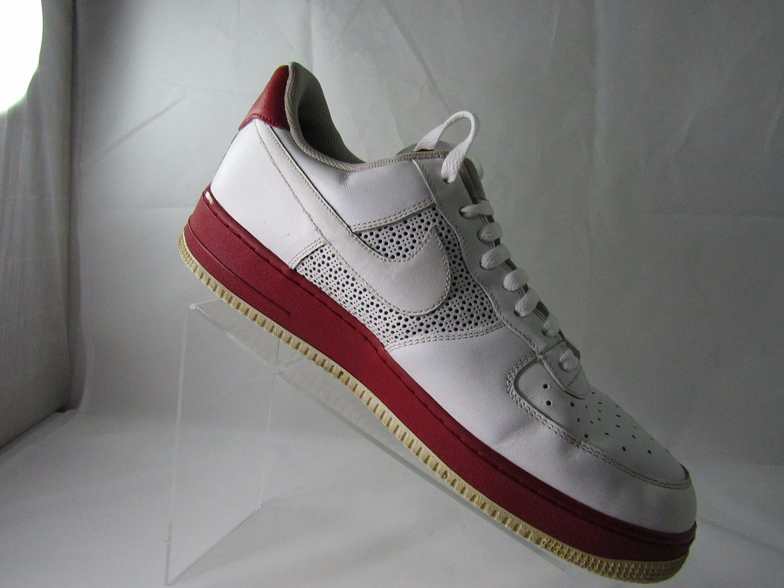 ... Nike Vintage Air Force 1 07,315122-993 Men's White-Varsity Red, ...