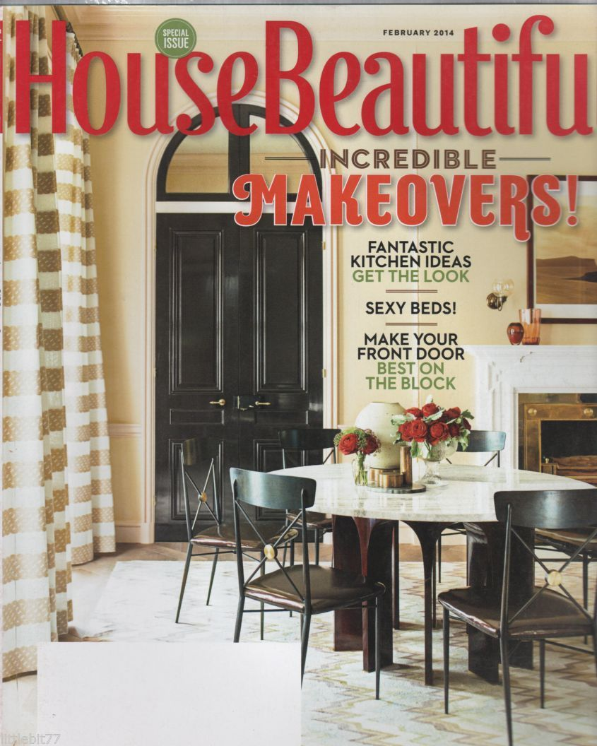 Primary image for House Beautiful Magazine  February 2014 Incredible Makeovers!
