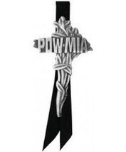 POW MIA Cross Large Pin - (2 inch) - $7.91