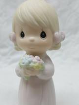 PRECIOUS MOMENTS WEDDING BRIDESMAID GIRL FLOWERS E-2831 Enesco - $7.61